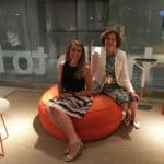 Amy and Ann at the Knoll showroom