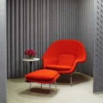 Womb Chair and Fitzfelt panels Knoll furniture dealers