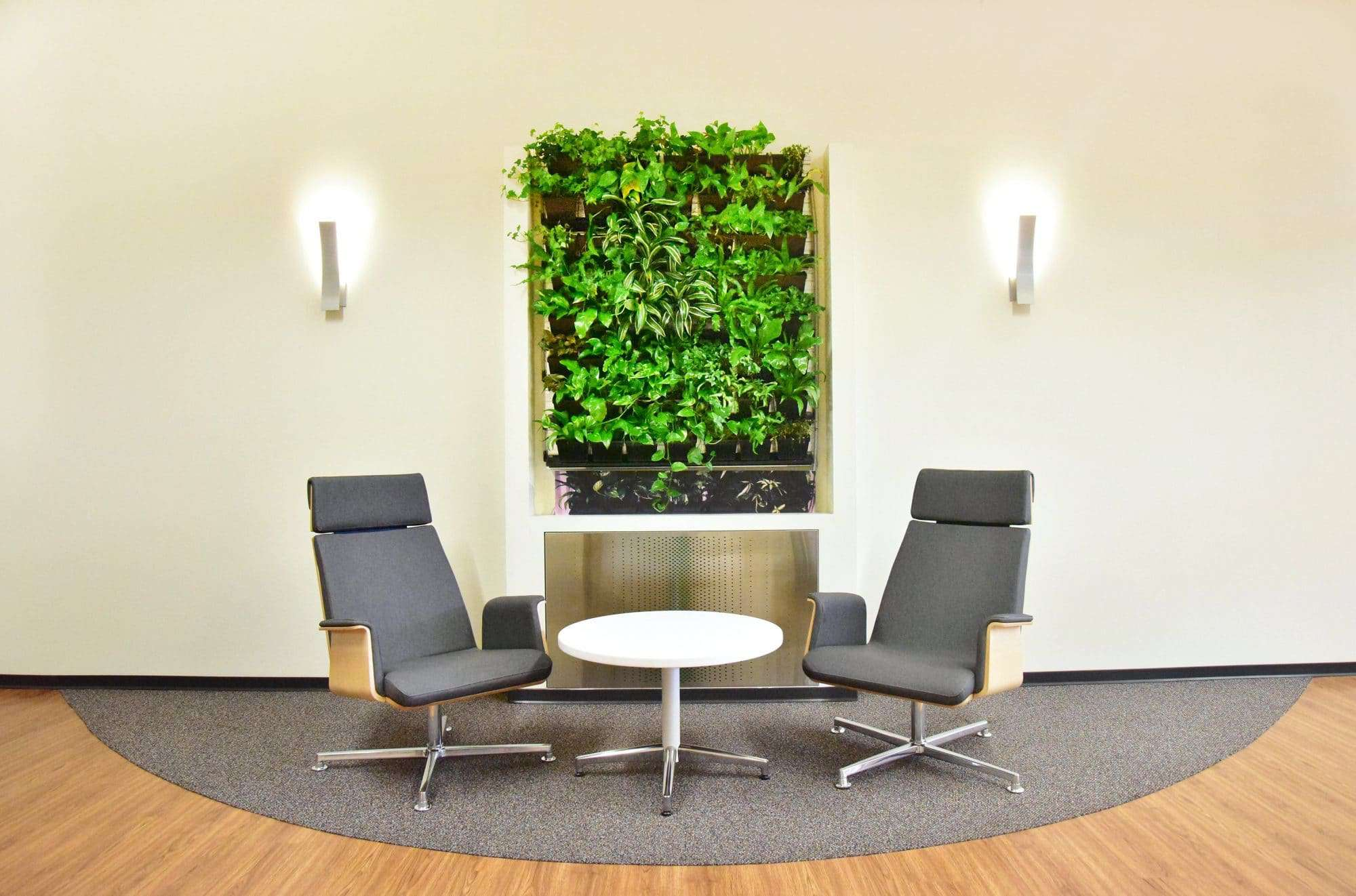 Geen Wall Commercial Office Design. Green Wall At Vollrath