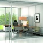 Trendway Clear glass Wall system